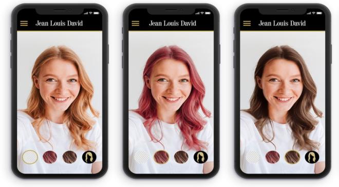 APPS de peluqueria aplicaciones móviles de las marcas Jean Louis David y Franck Provost.